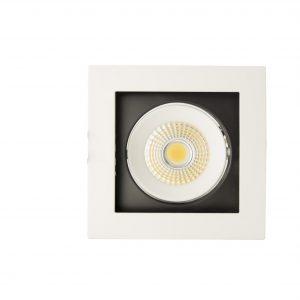 ЛЕД луничка насочена светлина, COB 8W 6000K, единична - technoled.eu
