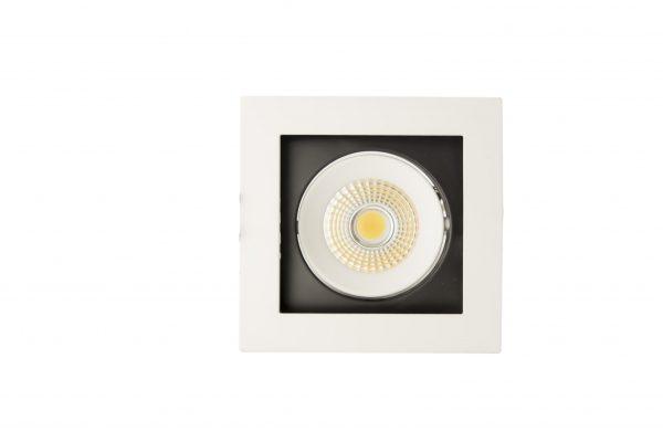 ЛЕД луничка насочена светлина, COB 8W 6000K, единична – technoled.eu